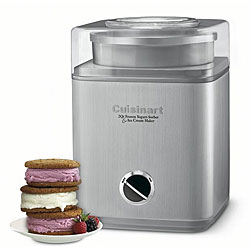 Cuisinart ICE-30BC Pure Indulgence 2-Quart Automatic Frozen Yogurt, Sorbet, and Ice Cream Maker (Refurbished)
