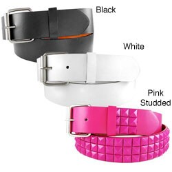 H2W Unisex Solid Color Belt