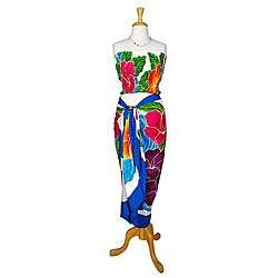 Hawaiian-style Hibiscus Sarong Set (Indonesia)