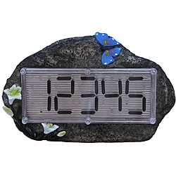 Tricod Solar-powered Faux-rock House Address Number
