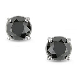 Miadora 14k Gold 1 1/2ct TDW Black Diamond Studs