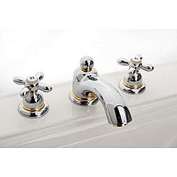 Hansgrohe Axor Carlton Widespread Chrome/ Gold Accents Faucet