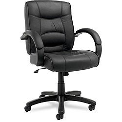 Alera Strada Leather Mid-back Swivel/ Tilt Chair