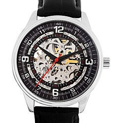 Akribos XXIV Men's 'Saturnos' Skeleton Automatic Watch