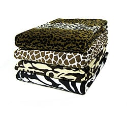 Plush Animal Print Throw Blanket (50 in. x 60 in.)