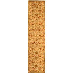 Safavieh Handmade Classic Kasha Gold Wool Runner (2'3 x 14')