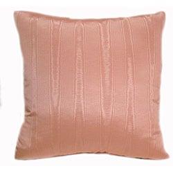 Crown Moire 16-inch Peach Throw Pillows (Set of 2)
