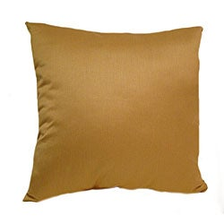 Silk 16-inch Yellow Throw Pillows (Set of 2)