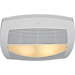hunter garden district brushed nickel 3 light bathroom exhaust fan