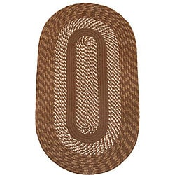 Middletown Brown Indoor/ Outdoor Braided Rug (5' x 8')