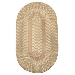 Middletown Natural Indoor/ Outdoor Braided Rug (3'6 x 5'6 Oval)
