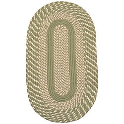 Middletown Sage Indoor/ Outdoor Braided Rug (8' x 10' Oval)