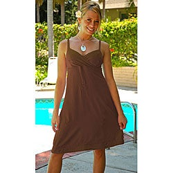 Women's Light Brown Mini Dress (Indonesia)