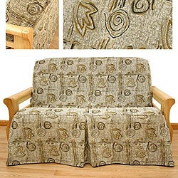 Full-size Melody Skirted Futon Slipcover
