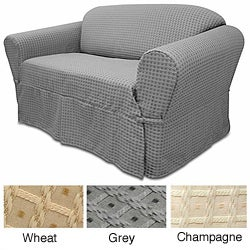 Basket Pattern Sofa Slipcover