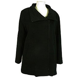Nicole Women's Cashmere Blend Side-zip Black Jacket