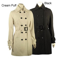 Esprit Women's Double-breasted Belted Military Jacket