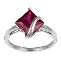 Miadora 10k Gold Created Ruby Swirl Ring