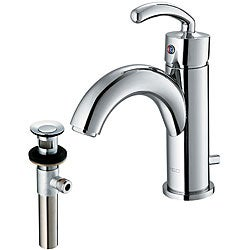 VIGO Single Lever Bathroom Faucet in Chrome Finish with Drain Assembly