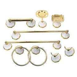 Moen Rivera Polished Brass 9-piece Bath Accessory Kit