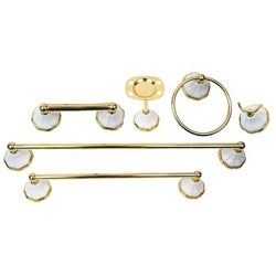 Moen Rivera Polished Brass 6-piece Bath Accessory Kit