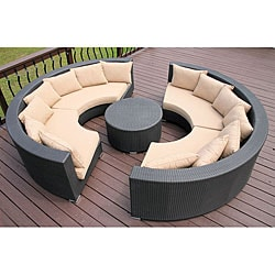 Savannah All-weather Wicker Round Sectional