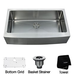 Kraus 36-inch Farmhouse Apron Single-bowl Steel Kitchen Sink