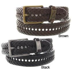 Nautica Men's Genuine Leather Braided Belt