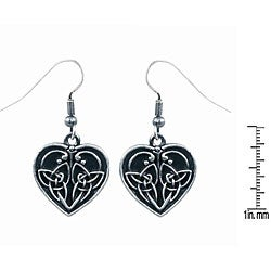 Pewter Celtic Heart-shape Love Earrings