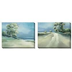Caroline Ashton 'Lakeside Tree' Oversized Canvas Art Set