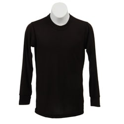 Kids&#39; Midweight Thermal Crewneck Black Top