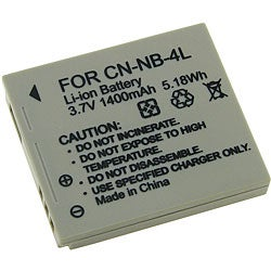 NB-4L Lithium-ion Battery For Canon Camera (3 Pack)