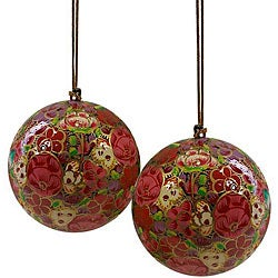 Set of Two Bouquet Ornaments (India)