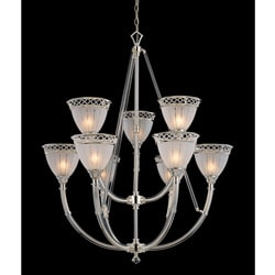 Jewel Polished Nickel 9-light Chandelier