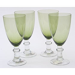 Certified International Olive Green 16-oz Goblets (Set of 8)