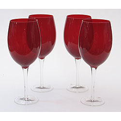 Certified International Ruby 20-oz White Wine Glasses (Set of 8)