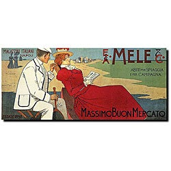 Leopoldo Metlicovitz 'Mele' Canvas Art