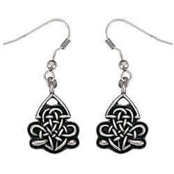 Pewter Celtic Shield Earrings