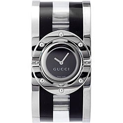 Gucci Women's Black and Clear Acetate Twirl Watch