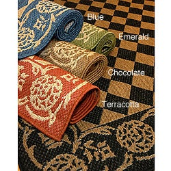 Diamond Indoor/ Outdoor Polypropylene Area Rug (9'6 x 12'9)