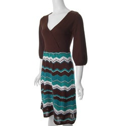 Sangria Women's 3/4-sleeve Sweater Dress