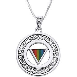 CGC Sterling Silver Pride Celtic Border Necklace