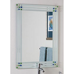 Bejeweled Frameless Bathroom Mirror