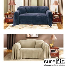 Plush Loveseat Furniture Throw