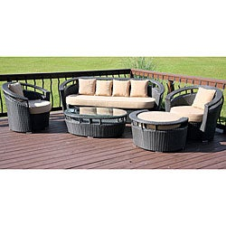 Calabasas 5-piece All-weather Wicker Patio Set