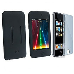 Black Skin Case and Screen Cover for iPod Touch 8GB/ 16GB/ 32GB
