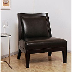Connor Dark Brown Leather Chair.