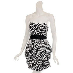 Animal Print Dress on Wishes Women S Zebra Print Party Dress   Overstock Com