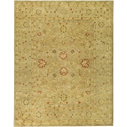Handmade Majesty Light Brown/ Beige Wool Rug (12' x 15')