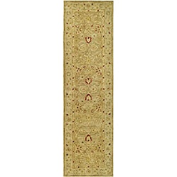 Handmade Majesty Light Brown/ Beige Wool Runner (2&#39;3 x 8&#39;)